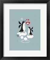 Framed Penguin Love