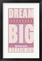Framed Dream Big (pink)