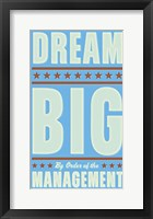 Framed Dream Big (blue)