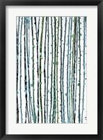 Framed Aqua Vine