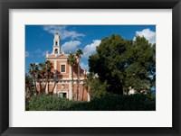 Framed St Peter's Catholic Church, Abrasha Summit Park, Jaffe, Israel