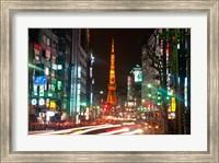 Framed Tokyo, Japan, Tokyo Tower in Shiba Park
