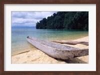 Framed Beached Canoe on Lake Poso, Sulawesi, Indonesia