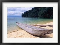 Framed Beached Canoe on Lake Poso, Sulawesi, Indonesia