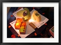 Framed Display of Autumn seasonal sweets, Tokyo, Japan