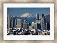 Framed Tokyo, Shinjuku, City Skyline, Mount Fuji, Japan