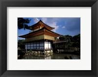 Framed Golden Pavilion, Zen Temple, Kinkakuji, Kyoto, Japan