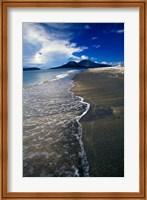 Framed Asia, Indonesia, Krakatau Volcano Beach scene