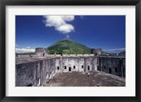 Framed 17th Century Dutch Fort, Banda Island, Indonesia