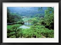 Framed Ritsurin Park, Takamatsu, Shikoku, Japan
