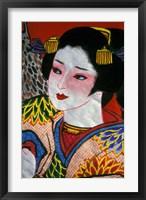 Framed Geisha, Warrior Folk Art, Takamatsu, Shikoku, Japan