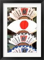 Framed Colorful Artwork on Fans, Kyoto, Japan