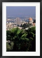 Framed Haifa Cityscape from Bahai Dome, Israel