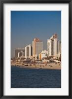 Framed Israel, Tel Aviv, beachfront hotels, late afternoon