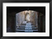 Framed Ancient street, old town, Jerusalem, Israel