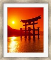 Framed O-Torii Gate, Itsukushima Shrine, Miyajima, Japan