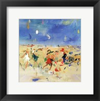 Beach Play I Framed Print
