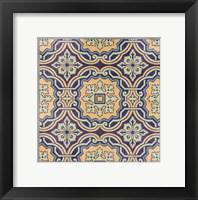 Framed Floral Tile III