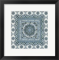 Framed Blue Silver Tile II