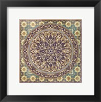 Framed Floral Tile IV