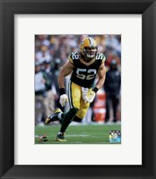 Framed Clay Matthews 2014 Action
