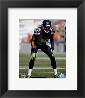 Framed Richard Sherman 2014 ready position