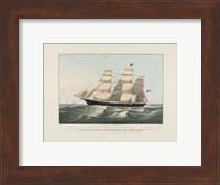 "Framed Clipper Ship ""Sovereign of the Seas"", 1852"