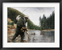 Framed Fishing the Gallatin