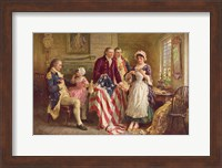 Framed Betsy Ross, 1777