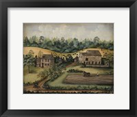 Framed Paxson Farm