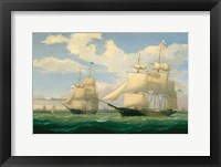 "Framed Ships ""Winged Arrow"" and ""Southern Cross"" in Boston Harbor, 1853"