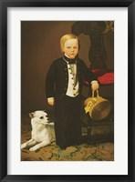 Framed Boy with Dog