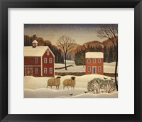 Framed Winter Sheep I