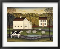 Framed White Farm
