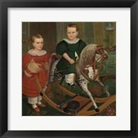 Framed Hobby Horse, ca. 1840