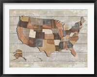 Framed Wood Map