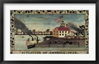Framed Situation of America, 1848