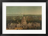 Framed View of Washington City, c. 1869