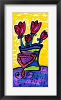 Framed Flowers for Van Gogh