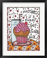Framed Happiness Is A Giant cupcake