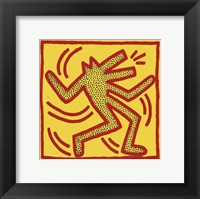 Framed Untitled, 1982 (red dog on yellow)