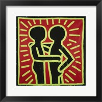 Framed Untitled, 1982 (couple in black, red, and green)