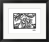Framed Untitled, 1982 (dogs with UFOs)