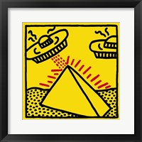 Framed Untitled, 1984 (pyramid with UFOs)