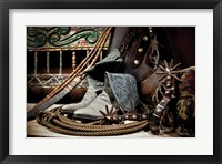 Framed TC's Boots and Yuma Spurs (color)