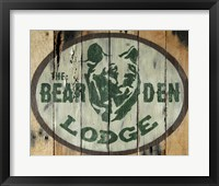 Framed Bear Den Lodge