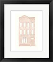 Framed Williamsburg Building 3 (Queen Anne)
