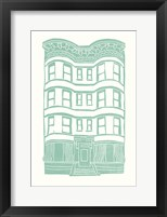Framed Williamsburg Building 4 (Brownstone)