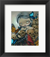 Framed Butterflies and Bones