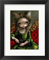 Framed Princess with a Black Cat